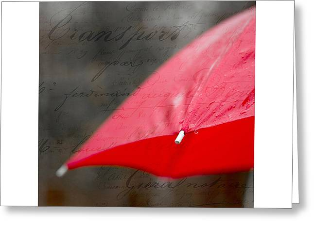 Paris Rains Original Signed Mini Greeting Card