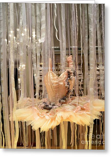 Paris Repetto Ballerina Tutu Dress Shop Window Display - Repetto Ballerina Ballet Tutu Art  Greeting Card