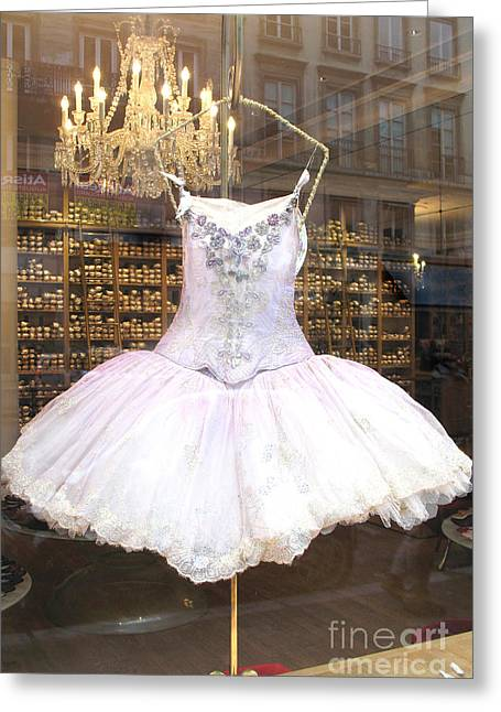 Paris Repetto Ballet Shop Tutu Photo - Paris Ballerina Dress - Repetto Ballet Shop - Paris Ballerina Greeting Card