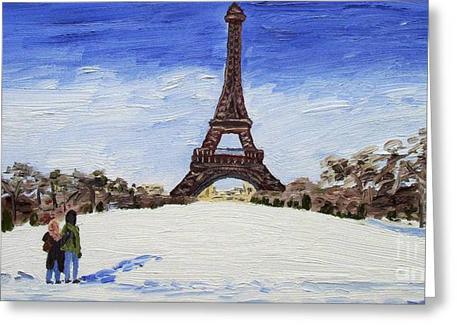 Paris Romance Greeting Card by Kevin Croitz