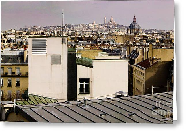 Paris Rooftop Panorama Greeting Card by Thomas Marchessault