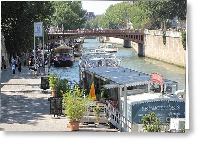 Paris - Seine Scene Greeting Card