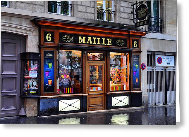 Paris Shop Greeting Card