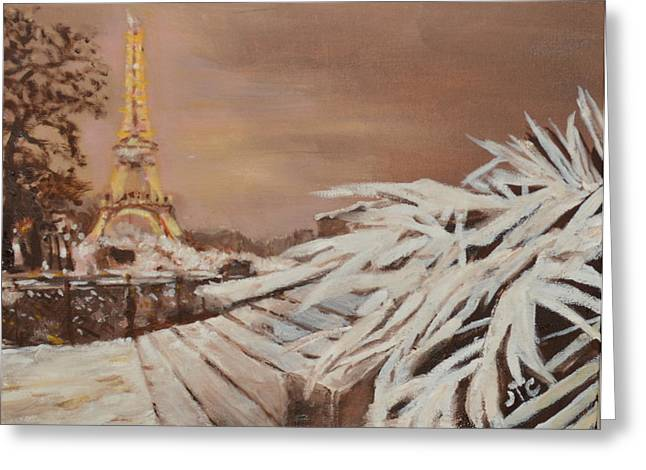 Paris Sous La Neige Greeting Card by Julie Todd-Cundiff