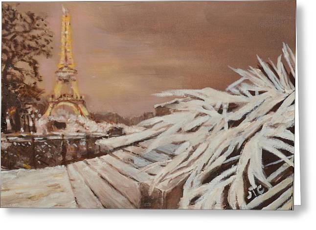 Paris Sous La Neige Greeting Card