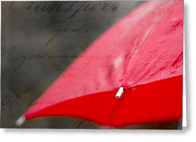 Paris Spring Rains Greeting Card by Edward Fielding