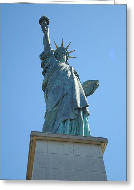 Paris Statue Of Liberty Greeting Card by Kay Gilley