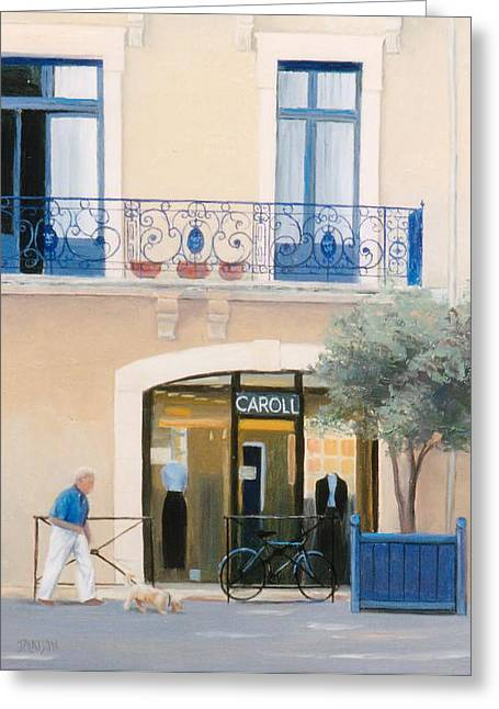 Paris Street Scene Greeting Card by Jan Matson