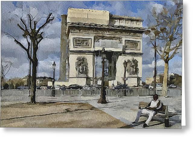 Paris Streets 2 Greeting Card by Yury Malkov