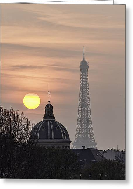Paris Sunset I Greeting Card by Mark Harrington