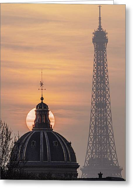 Paris Sunset IIi Greeting Card