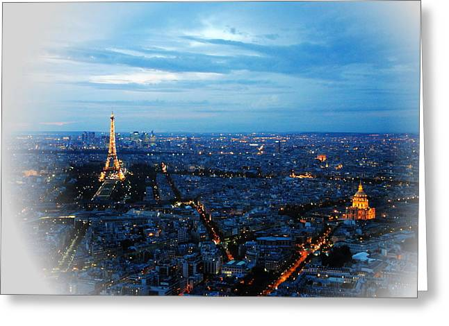Paris View From Tour Montparnasse Greeting Card by Jacqueline M Lewis