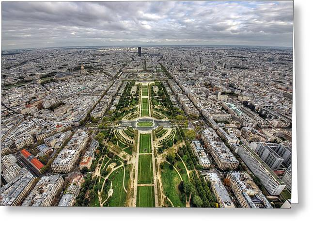 Paris Wide View Greeting Card by Ioan Panaite