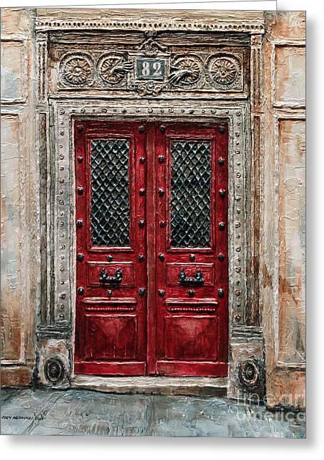 Parisian Door No.82 Greeting Card by Joey Agbayani