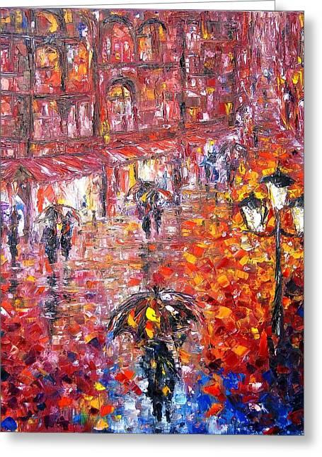 Parisian Umbrellas Greeting Card