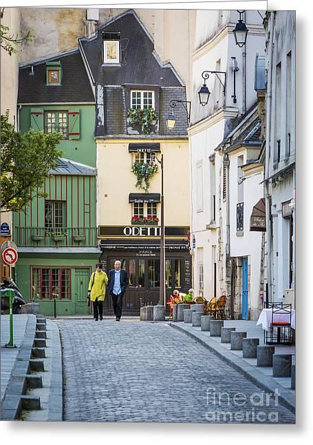Parisian Walk Greeting Card by Brian Jannsen