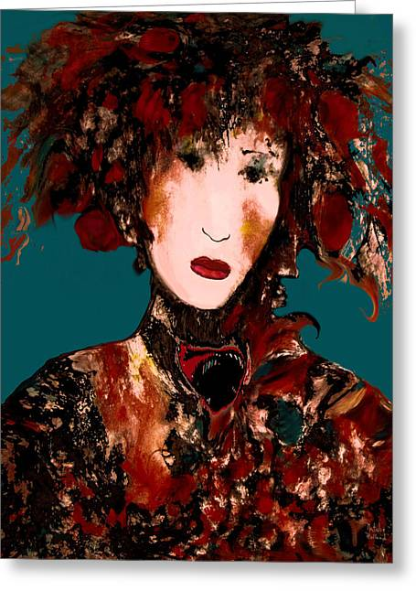 Parisienne Greeting Card by Natalie Holland