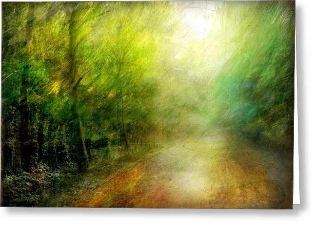 Greeting Card featuring the photograph Park #7. The Colors Of Silence by Alfredo Gonzalez