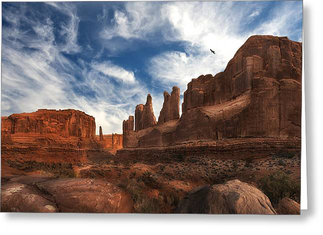 Park Ave Overlook At Arches National Park Greeting Card