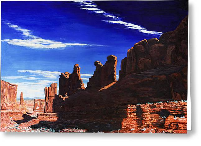 Park Avenue At Arches Greeting Card