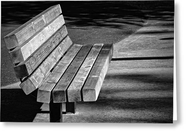 Park Bench Greeting Card by Ludwig Keck