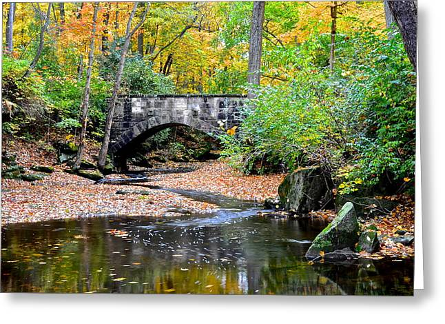 Park Bridge Greeting Card by Frozen in Time Fine Art Photography
