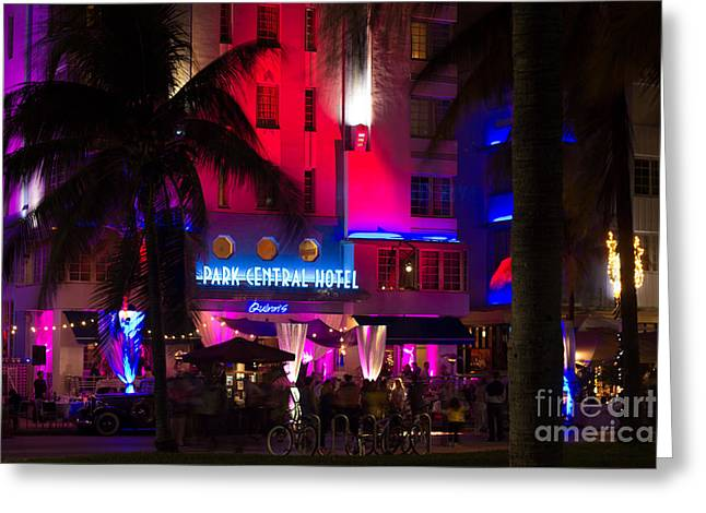 Park Central South Beach Greeting Card by Rene Triay Photography