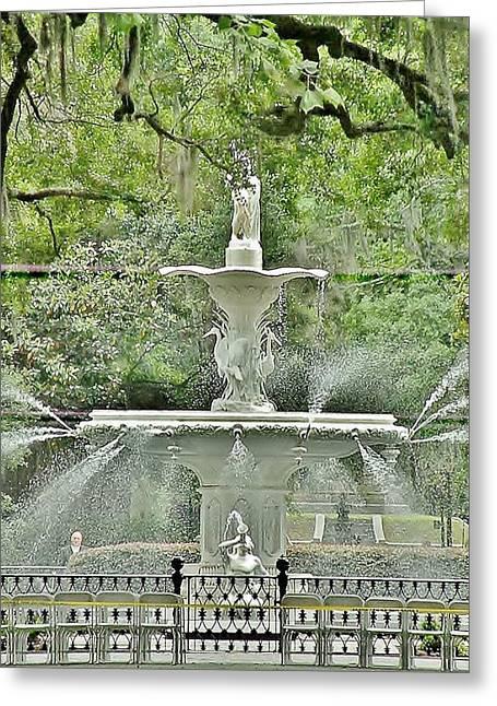 Forsyth Park Fountain - Savannah Georgia Greeting Card