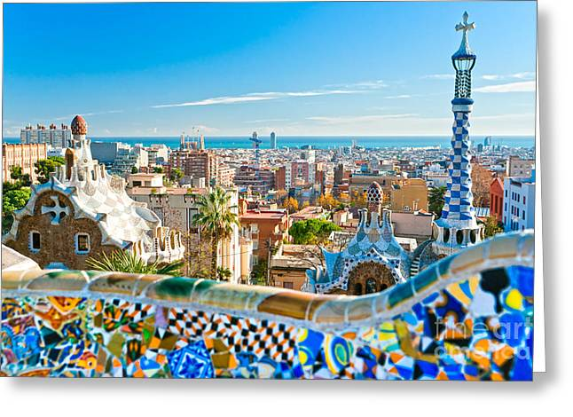Park Guell - Barcelona Greeting Card by Luciano Mortula