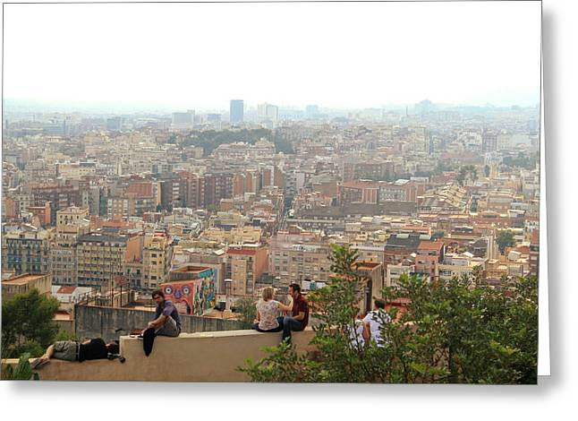 Park Guell Barcelona Greeting Card by Jon Cotroneo