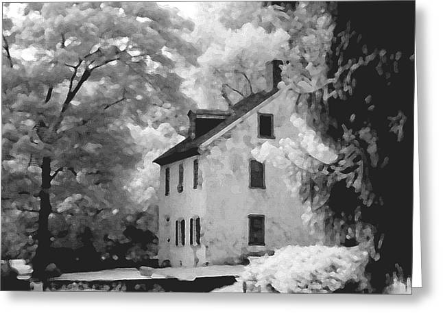 Park House Greeting Card by Jerome Moore