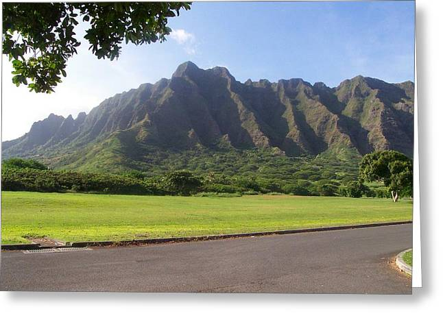 Park On Oahu Greeting Card
