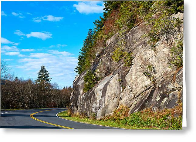 Park Road Greeting Card by Melinda Fawver