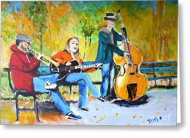 Park Serenade Greeting Card by Judy Kay