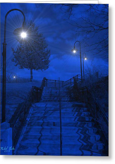Park Stairs Greeting Card by Michael Rucker