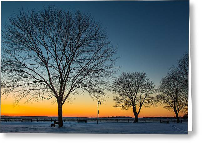 Park Sunset Greeting Card