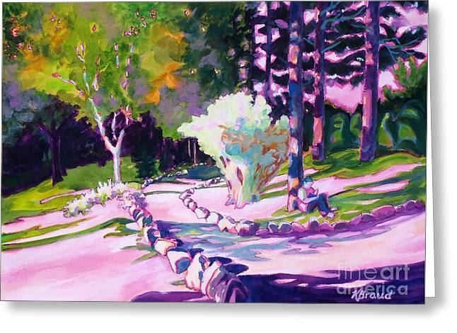 Park Trails 2           Greeting Card by Kathy Braud