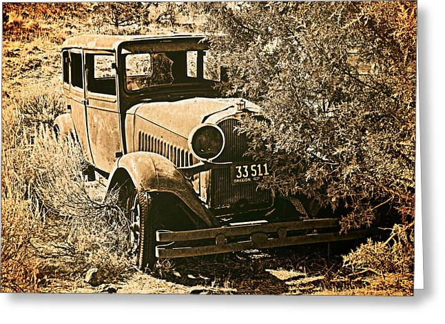 Parked 3 Greeting Card by Leland D Howard
