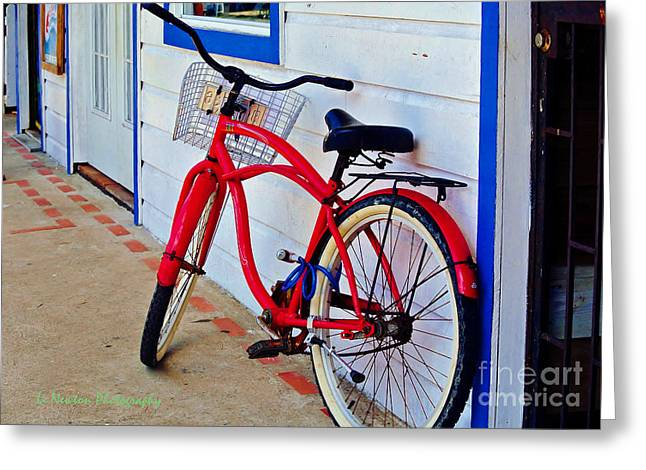 Parked In Panama Greeting Card by Li Newton