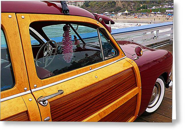 Parked On The Pier Greeting Card by Ron Regalado