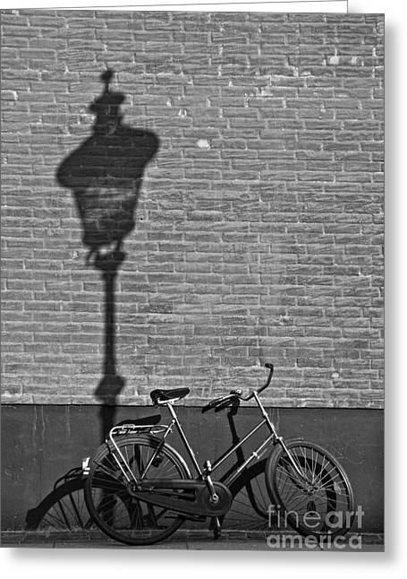Parked Under The Lamp Post Greeting Card by Inge Riis McDonald
