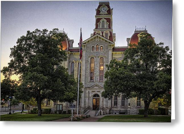 Parker County Courthouse Greeting Card by Joan Carroll