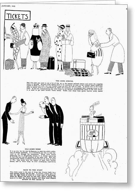 Parker Divorce, 1920 Greeting Card
