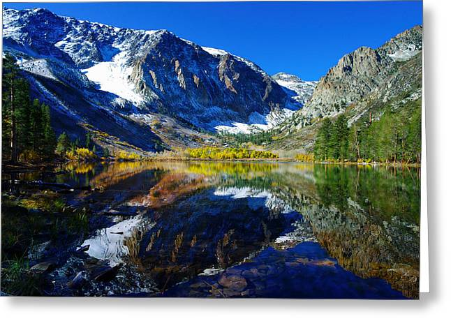 Parker Lake California In Fall Greeting Card by Scott McGuire