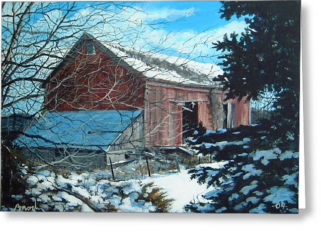 Parker Road Barn Greeting Card by William  Brody