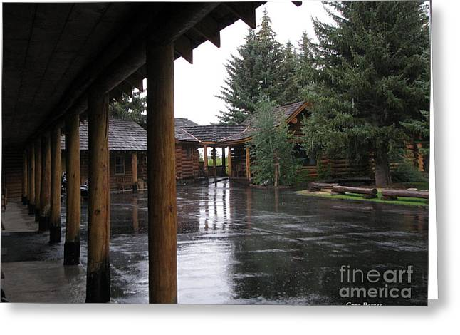 Greeting Card featuring the photograph Parking Lot by Greg Patzer
