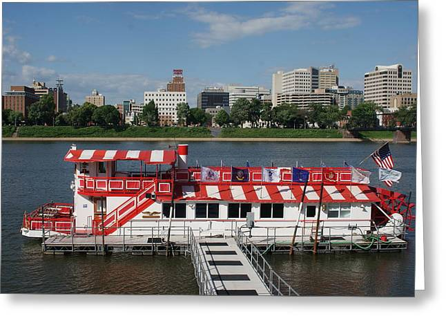 Pride Of The Susquehanna At The Dock   # Greeting Card by Rob Luzier