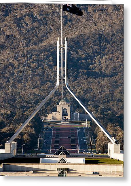 Parliament And War Memorial Australia Greeting Card