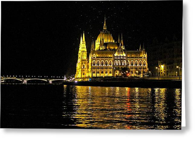 Parliament At Night Greeting Card