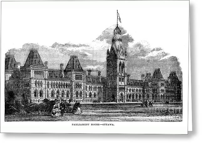 Parliament Building - Ottawa - 1878 Greeting Card